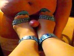 voet fetish duits kousen