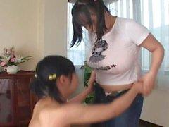 asiático lésbicas japonês grandes seios naturais lesbian japonês