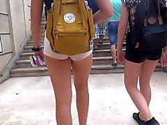 babes brunettes french spandex voyeur