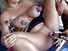 bisarra lesbisk fishnet fisting leksaker