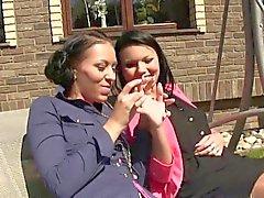 brunette fetish fingering hd lesbian
