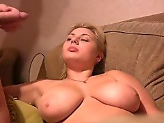 amateur big boobs blonde blowjob