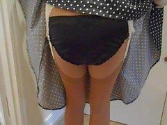 lencería nylon medias