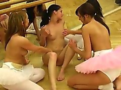 blonde brunette group sex teen