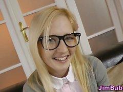 blonde blowjob handjob hd