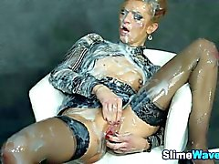 gloryhole blonde blowjob stockings