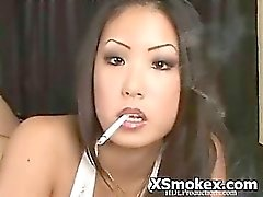 amateur asian fetish smoking