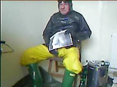 webcam chat in rubber with a friend I wank over a pic of his wife's tits.
