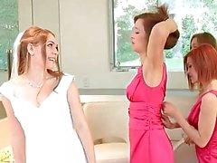 illa tillförordnade foursome lesbisk teen vackra -blond
