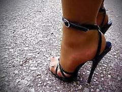 black and ebony foot fetish nylon