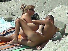 Stripped beach sex caught on spycam