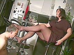 bdsm femdom jalka fetissi ranskalainen sukat
