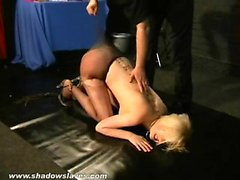 bdsm big boobs blonde fingering