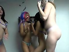 Horny College Hoes Get Naked During Party