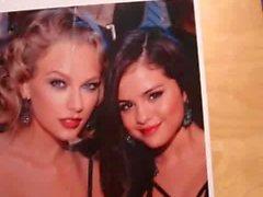 Selena Gomez & Taylor Swift Double Cum