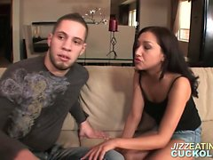 bisexual blowjob brunette