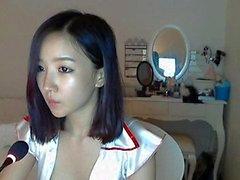 solo flicka asiatisk webkamera