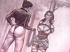lesbian masturbation domination bondage redhead