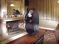 Italian Nun taking fat cock in her ass
