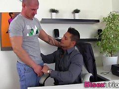 bisexual blowjob cumshot doggystyle gangbang