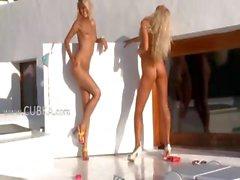 amateur blonde high heels