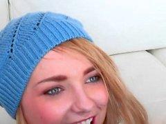 Foxy blonde Cutie Carmen Callaway gets Banged