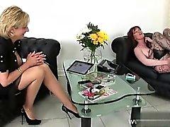 lesbian masturbation mature milf nylon