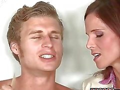 Nasty Syren DeMer guides teens into anal