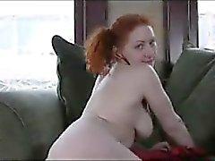 peitos grandes masturbação ruivo