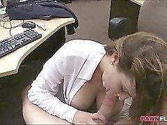 amateur blowjob brunette milf