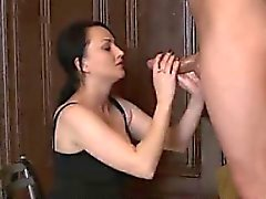 big cocks blowjob brunette facial handjob