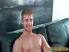 Pretty face gay stud Logan takes rigid