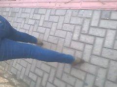 loira gostosa jeans rua 2