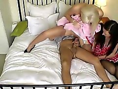 blonde blowjob brunette cfnm