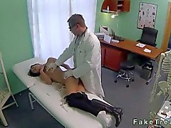 amateur brunette cute doctor