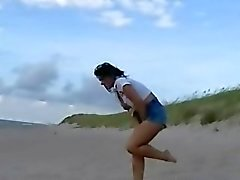 beach crystel lei flashing in public