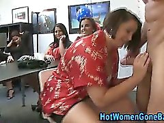 blonde blowjob brunette cfnm handjob