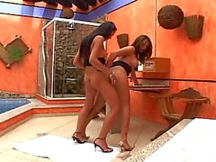 shemale and shemale suck cum brunette