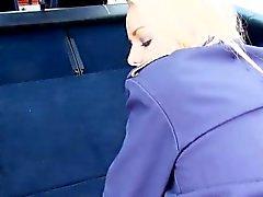 blond pipe doggystyle de plein air public