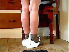 spanking otk brunette