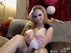 big boobs blonde masturbation solo