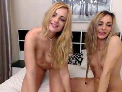 amateur blonde fingering lesbian