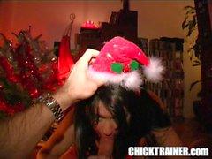 Retro Vintage Porn Xmas 2003: Spoon-fed Christmas Cum Eating