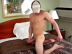 Sexy gay Will unwraps down and fondles his bod while playing