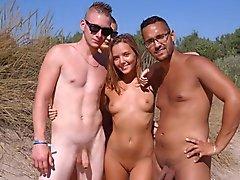 plage clignotant nudiste