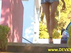 brunette outdoor teen pissing solo