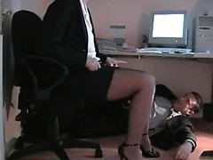 British Couple Role Play an Office Trist