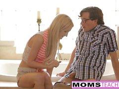 blondes big boobs creampie threesomes mom