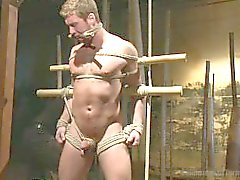 muscle tied-up ropes
