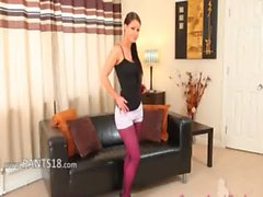 nylon pantyhose purple been also